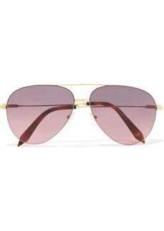 Victoria Beckham Classic Victoria aviator-style acetate and gold-tone sunglasses