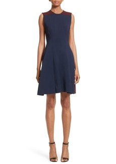 Victoria Beckham Colorblock Fit & Flare Dress