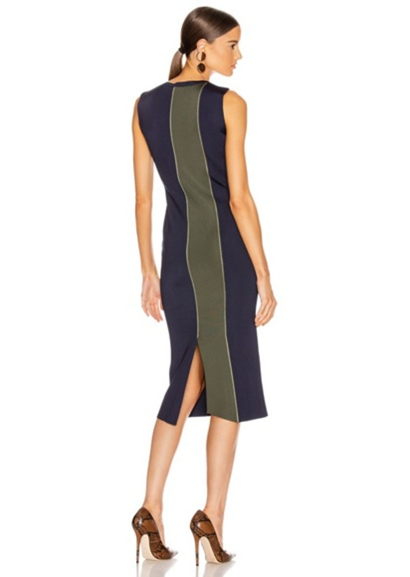 Victoria Beckham Colorblock Sleeveless Fitted Dress