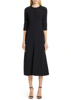 Victoria Beckham Contrast Stitch Crepe Dress