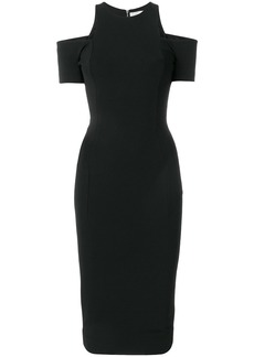 Victoria Beckham cut-out fitted dress - Black
