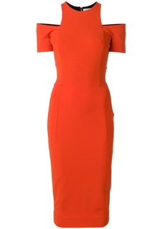 Victoria Beckham cut-out fitted dress - Red