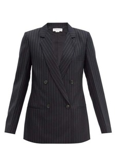 Victoria Beckham Double-breasted pinstriped wool jacket