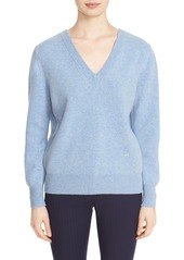 Victoria Beckham Double V-Neck Felted Lambswool Sweater