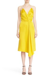 Victoria Beckham Drape Wrap Midi Dress
