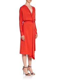 Victoria Beckham Draped Blouson Dress