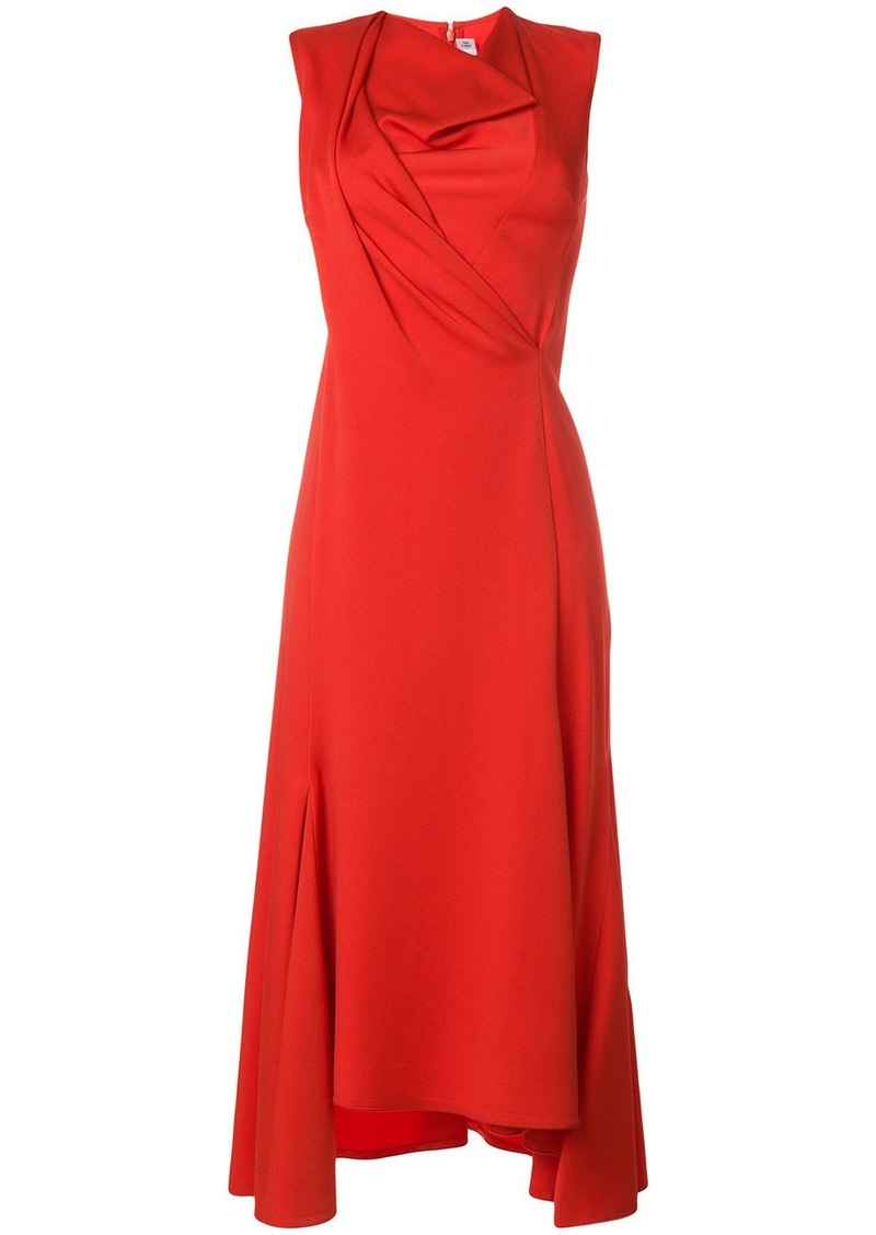 Victoria Beckham draped front midi dress
