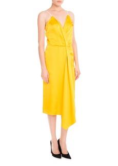 Victoria Beckham Draped Satin Midi Dress