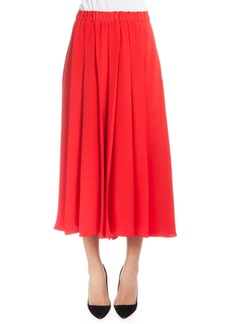 Victoria Beckham Elastic-Waist Pleated Culottes