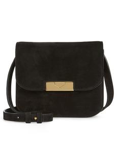 Victoria Beckham Eva Calfskin Suede Shoulder Bag