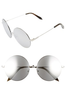 Victoria Beckham Feather 58mm Round Sunglasses