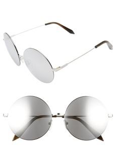 Victoria Beckham Feather 58mm Round Sunglasses