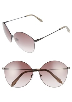 Victoria Beckham Feather Kitten 64mm Sunglasses