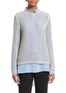 Victoria Beckham Fishnet Sweater