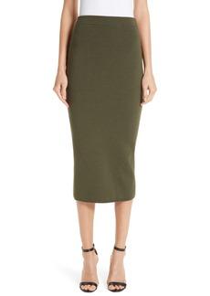 Victoria Beckham Fitted Knit Skirt