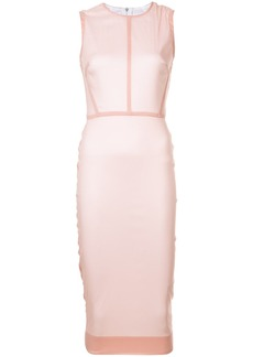 Victoria Beckham fitted midi dress - Pink & Purple