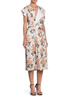 Victoria Beckham Floral Belted Wrap Dress