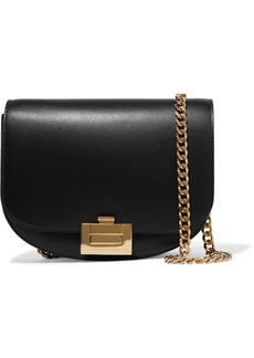 Victoria Beckham Half Moon Box Chain Leather Shoulder Bag