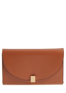 Victoria Beckham Half Moon Calfskin Leather Wallet on a Chain