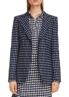 Victoria Beckham Houndstooth Jacquard Jacket