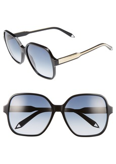 Victoria Beckham Iconic Square 59mm Sunglasses