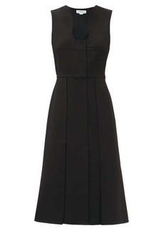 Victoria Beckham Keyhole-neck crepe midi dress