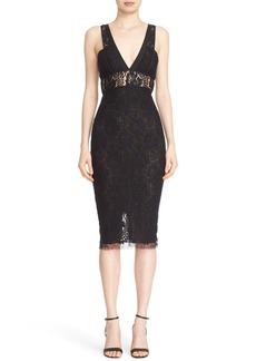 Victoria Beckham Lace Kick Midi Dress