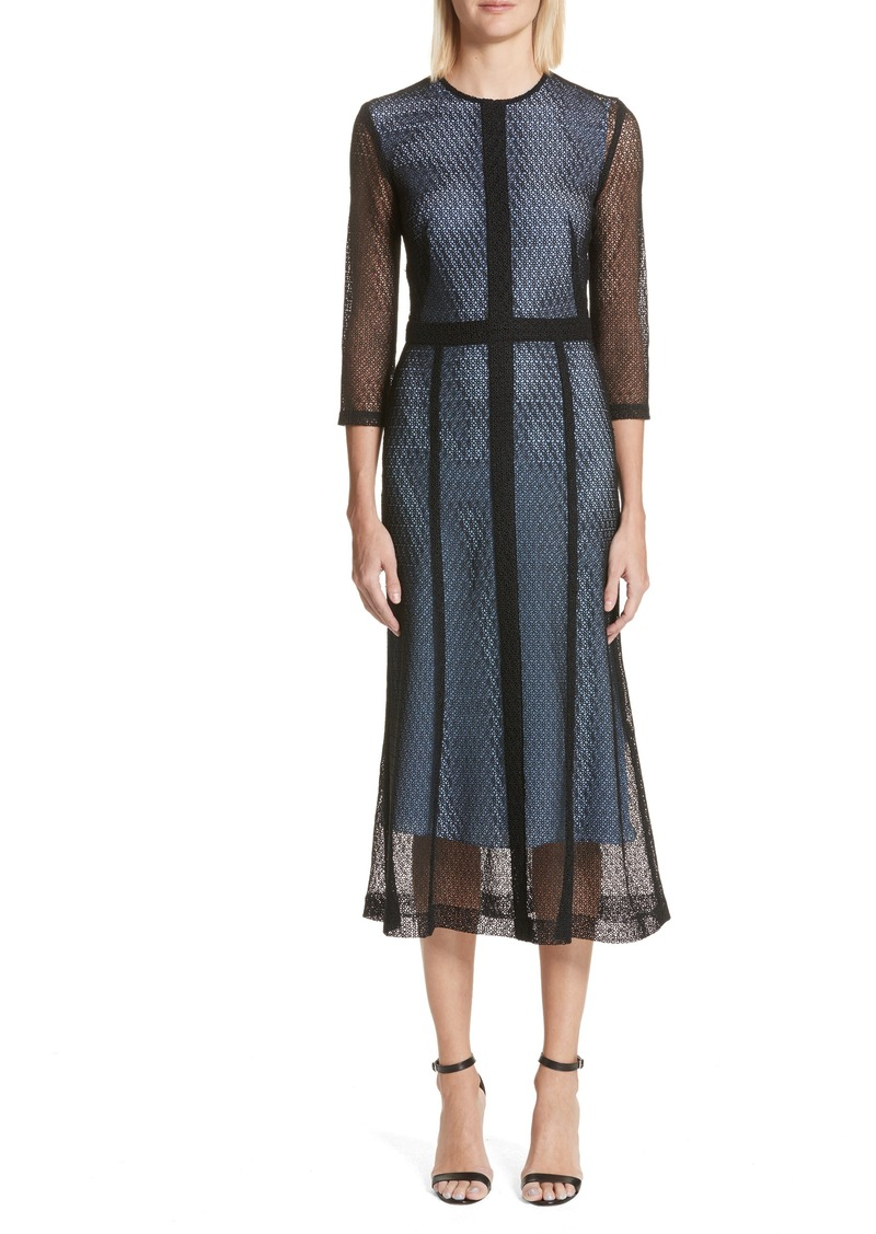 Victoria Beckham Lace Midi Dress