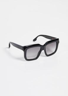 Victoria Beckham Large Bevelled Square Sunglasses