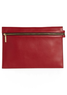 Victoria Beckham Large Zip Leather Pouch