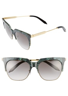 Victoria Beckham Layered Combination 57mm Square Sunglasses