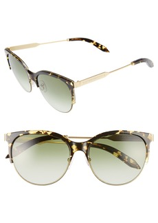 Victoria Beckham Layered Combination Kitten 55mm Sunglasses