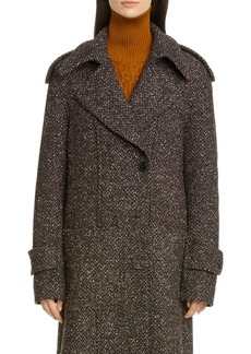 Victoria Beckham Layered Tweed Coat