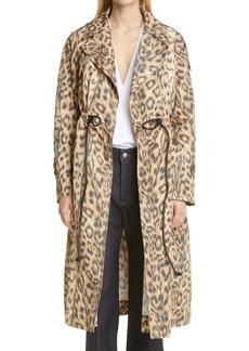 Victoria Beckham Leopard Trench Coat