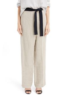 Victoria Beckham Linen Wide Leg Pants