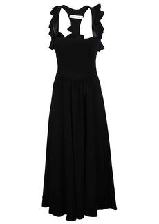 Victoria Beckham Long Ruffle Dress