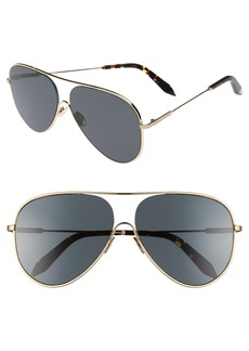 Victoria Beckham Loop 62mm Oversize Aviator Sunglasses