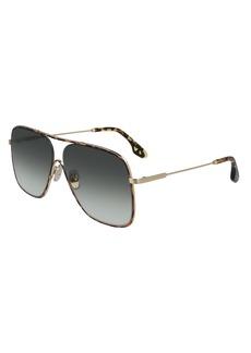 Victoria Beckham Loop 64mm Oversize Navigator Sunglasses