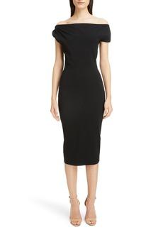 Victoria Beckham Matte Jersey Off the Shoulder Dress