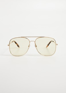 Victoria Beckham Navigation Aviator Sunglasses