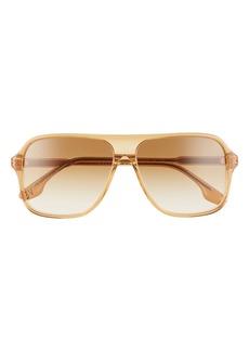 Victoria Beckham Navigator Corewire 59mm Sunglasses