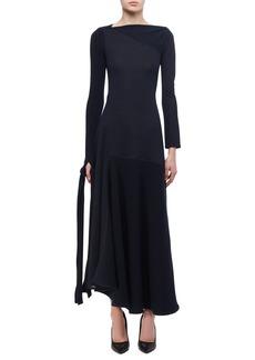 Victoria Beckham Paneled Tie-Detail Midi Dress