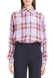 Victoria Beckham Plaid Shirt