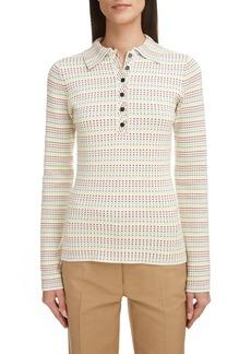Victoria Beckham Polka Dot Polo Sweater