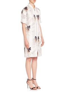 Victoria Beckham Printed Zip-Front Dress