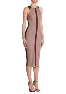 Victoria Beckham Racerback Fitted Bodycon Dress