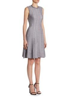 Victoria Beckham Ribbed Fit-&-Flare Dress
