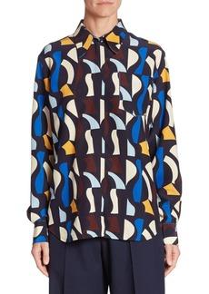 Victoria Beckham Silk Button-Front Shirt