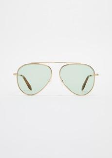 Victoria Beckham Single Bridge Aviator Sunglasses