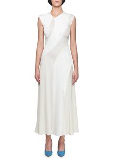 Victoria Beckham Sleeveless Asymmetric Jacquard Dress
